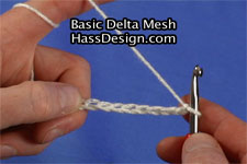 Crochet Video - Basic Delta Mesh
