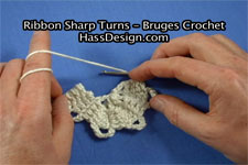Bruges Crochet - How to Crochet Sharp Turns Video