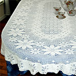 Instant-Print Tablecloth crochet pattern